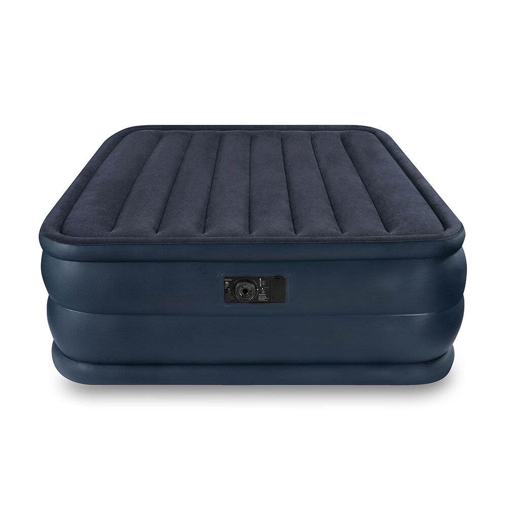 Intex Queen Raised Downy Air Mattress Bed With Built In
