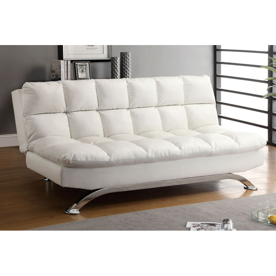 Furniture of america cm2906wh aristo futon sofa ebay for Furniture of america