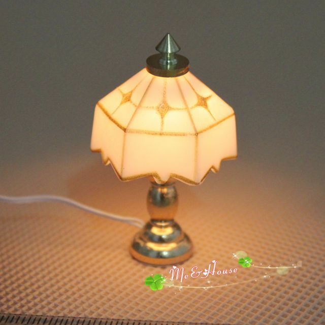 1 12 dollhouse retro style table lamp 12 volt working for 12v table lamp