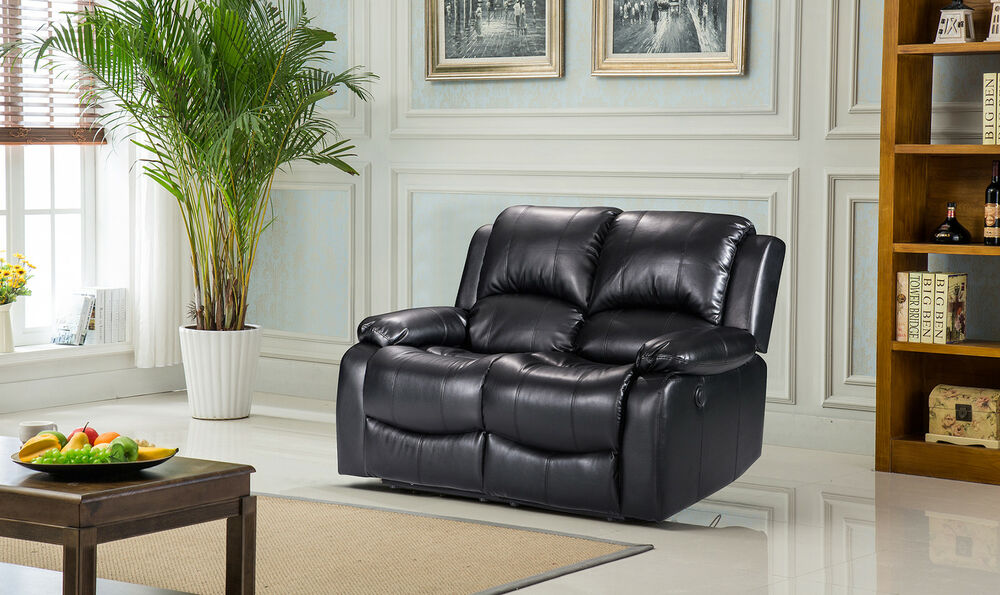 New Luxury Valencia 2 Seater Bonded Leather Recliner Sofa