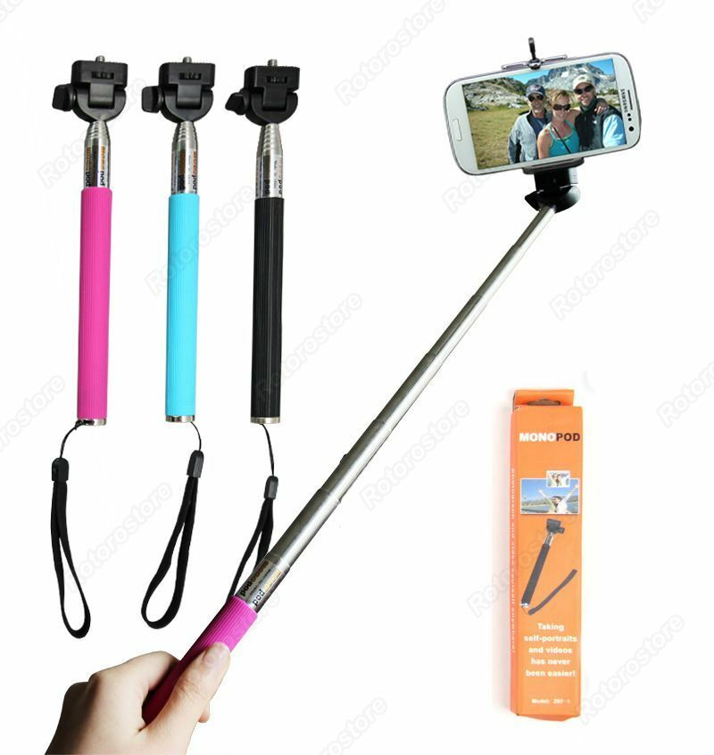 adjustable monopod selfie stick vlog camera tablet phone handle holder pole ebay. Black Bedroom Furniture Sets. Home Design Ideas