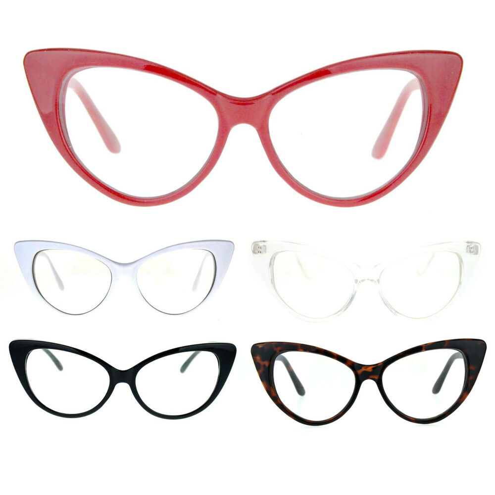 b2e993825ac Details about womens goth mod chic classic retro cat eye horn rim optical  glasses new jpg