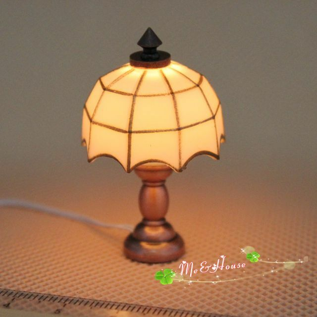 1 12 dollhouse miniature desk table lamp 12 volt working for 12v table lamp