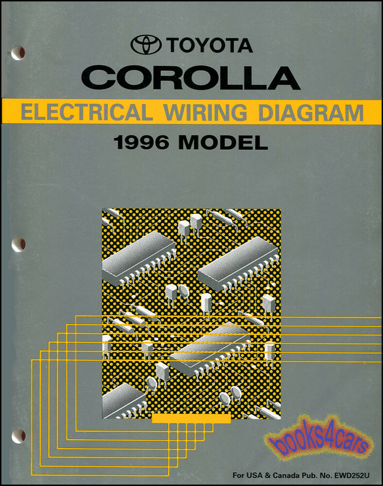 SHOP MANUAL COROLLA 1996 ELECTRICAL SERVICE REPAIR WIRING DIAGRAM SCHEMATIC  | eBay