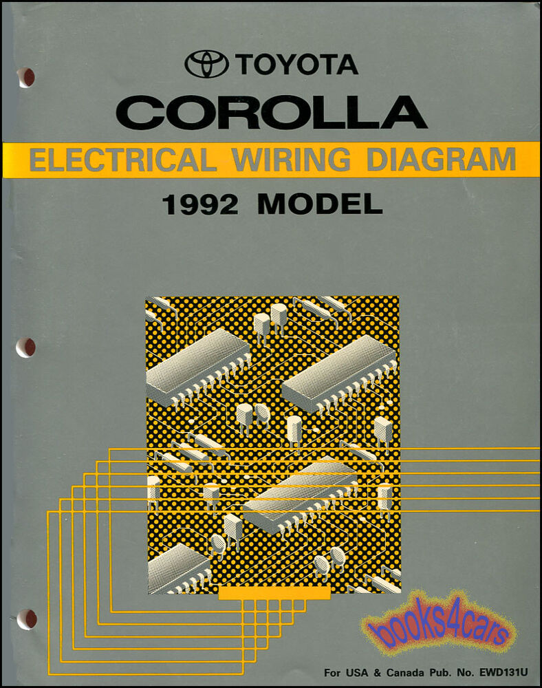 Wiring Diagram Toyota Corolla 1997 : Shop manual service repair corolla electrical wiring