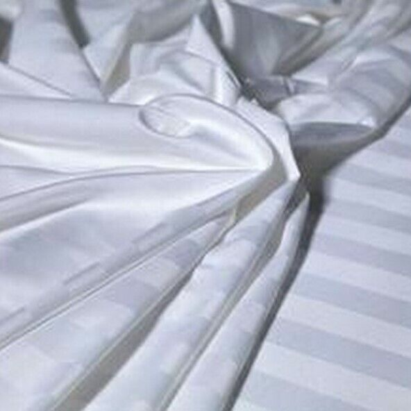 Satin Stripe Egyptian Cotton White 400 Thread Count Duvet