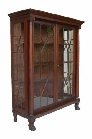 Captivating Antique Breakfront Cabinet