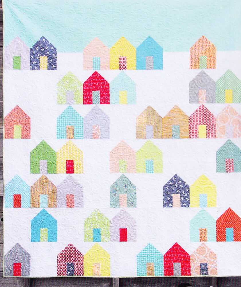 Simple Modern Quilt Patterns Free : Suburbs - easy modern pieced quilt PATTERN - Cluck Cluck Sew eBay