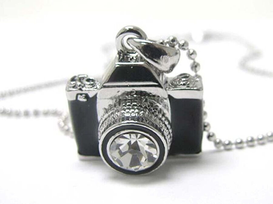 Miniature Camera Charm Pendant Fashion Necklace With
