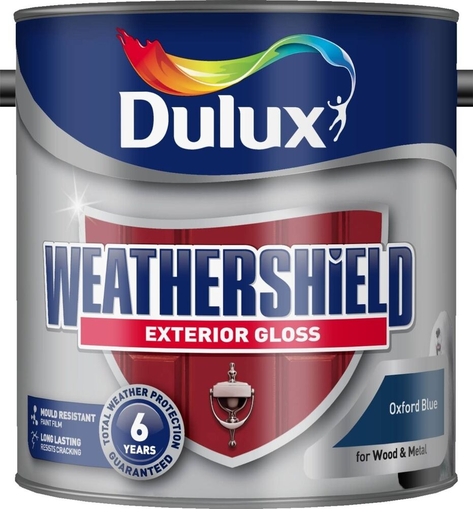 Dulux oxford blue weathershield exterior gloss paint ebay - Dulux exterior gloss paint style ...