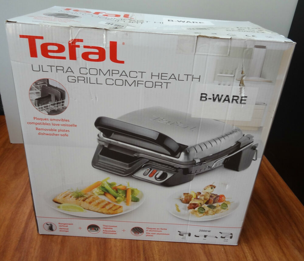 tefal gc 3060 kontaktgrill 3 in 1 elektrogrill grill neu ovp 2 ebay. Black Bedroom Furniture Sets. Home Design Ideas