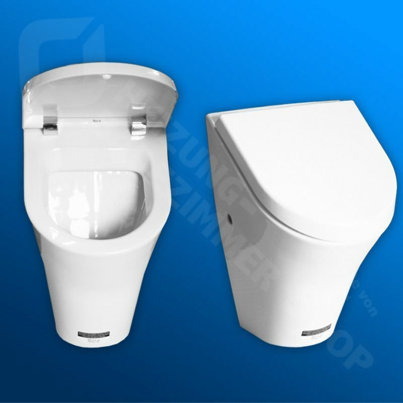 urinal roca nexo m zulauf von hinten inkl deckel mit absenkautomatik wei ebay. Black Bedroom Furniture Sets. Home Design Ideas