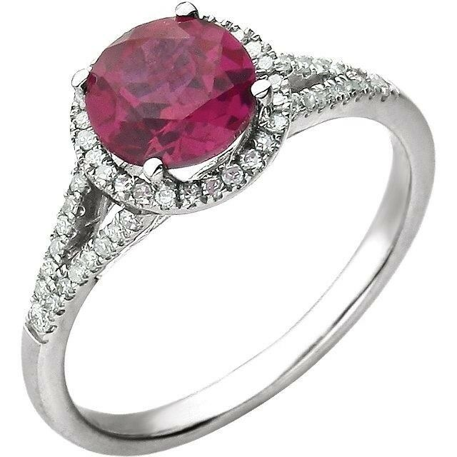 Ruby And Diamond Ring In 14kt White Gold, July Birthstone. Radient Engagement Rings. Cute Pink Rings. $7000 Wedding Rings. L Name Engagement Rings. Blue Stone Rings. Purple Green Wedding Wedding Rings. Goth Engagement Rings. Rainbow Rings