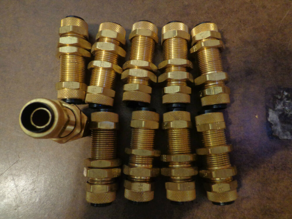 Brass bulkhead fitting quot thread by tube od pbh