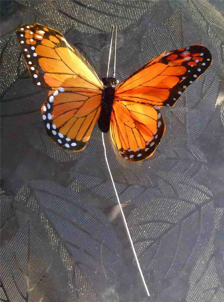 Floral Decor: Monarch Butterfly Decor W/ Wire For Floral Decor House