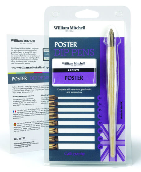 William mitchell dip pen calligraphy set poster nibs ebay