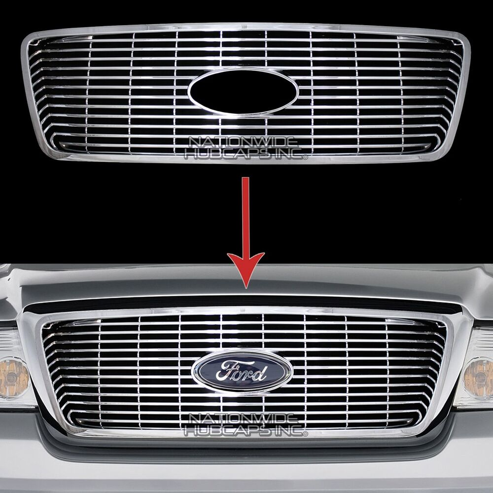 04 08 Ford F150 Chrome Snap On Grille Insert Grill Cover