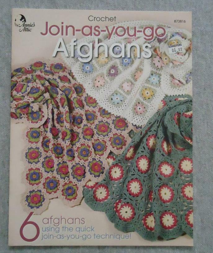 Crochet Pattern Book Afghans Join As You Go Crocheted 6
