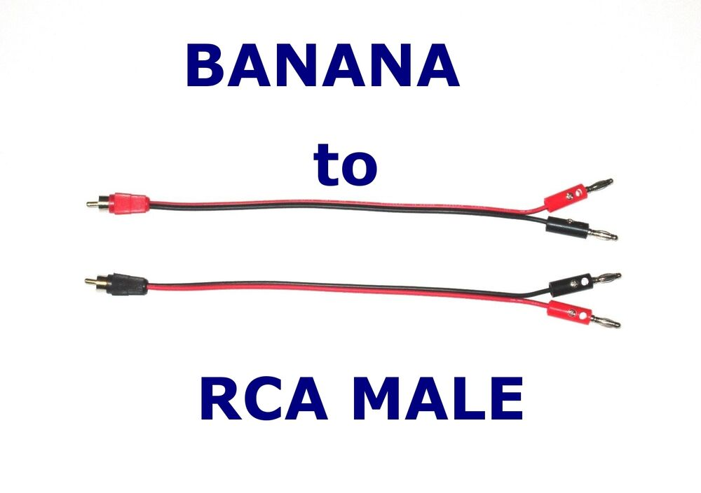 2 Channel Banana Plug To Rca Male Adapter For Amp Receiver
