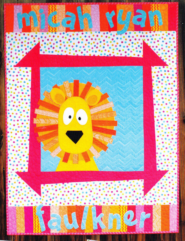 Free Pieced Baby Quilt Patterns : Zoey s Zoo - cute pieced & applique baby quilt PATTERN - 4 designs - Sassafras eBay