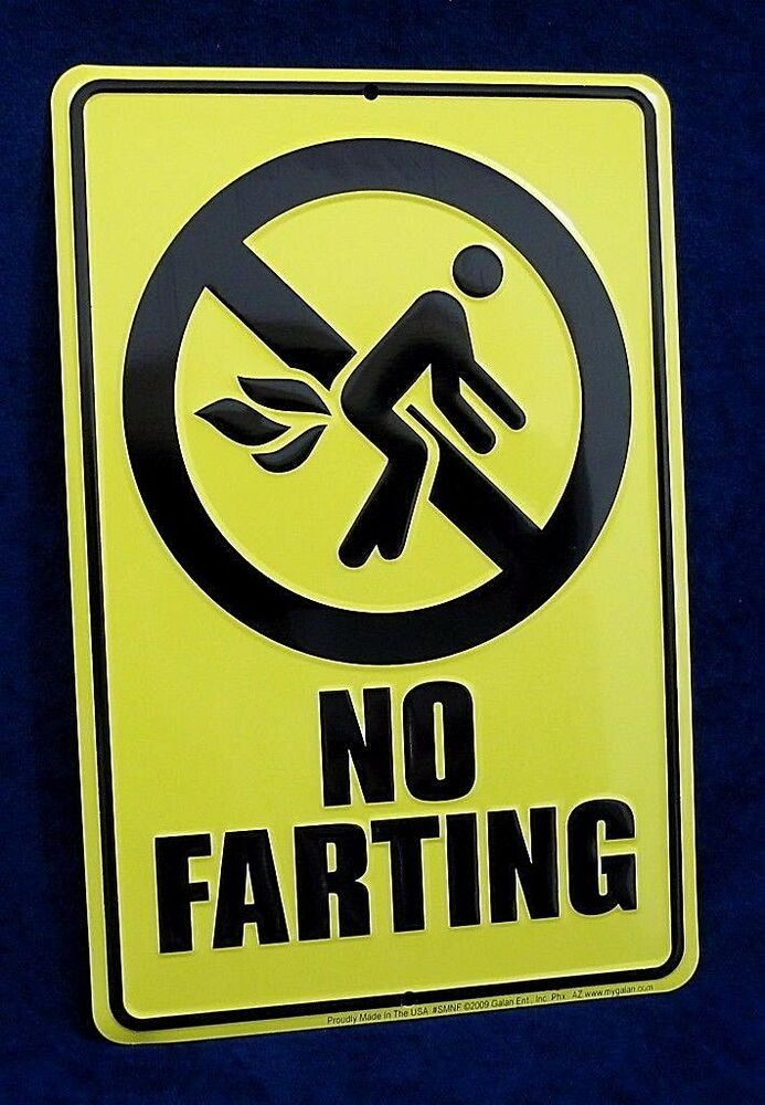 Woman Cave Signs For Garage : No farting us made embossed metal tin warning sign