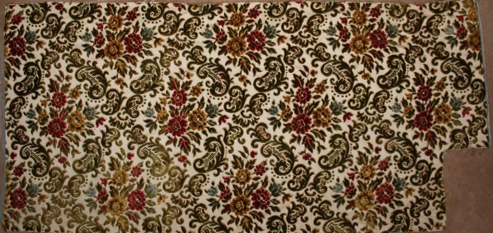 Victorian cut velvet 25 x49 upholstery fabric heavy for Victorian floral fabric