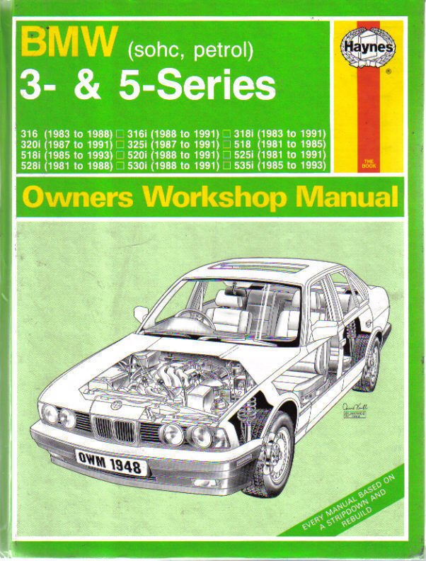 bmw 3 5 series sohc petrol haynes owners workshop manual. Black Bedroom Furniture Sets. Home Design Ideas