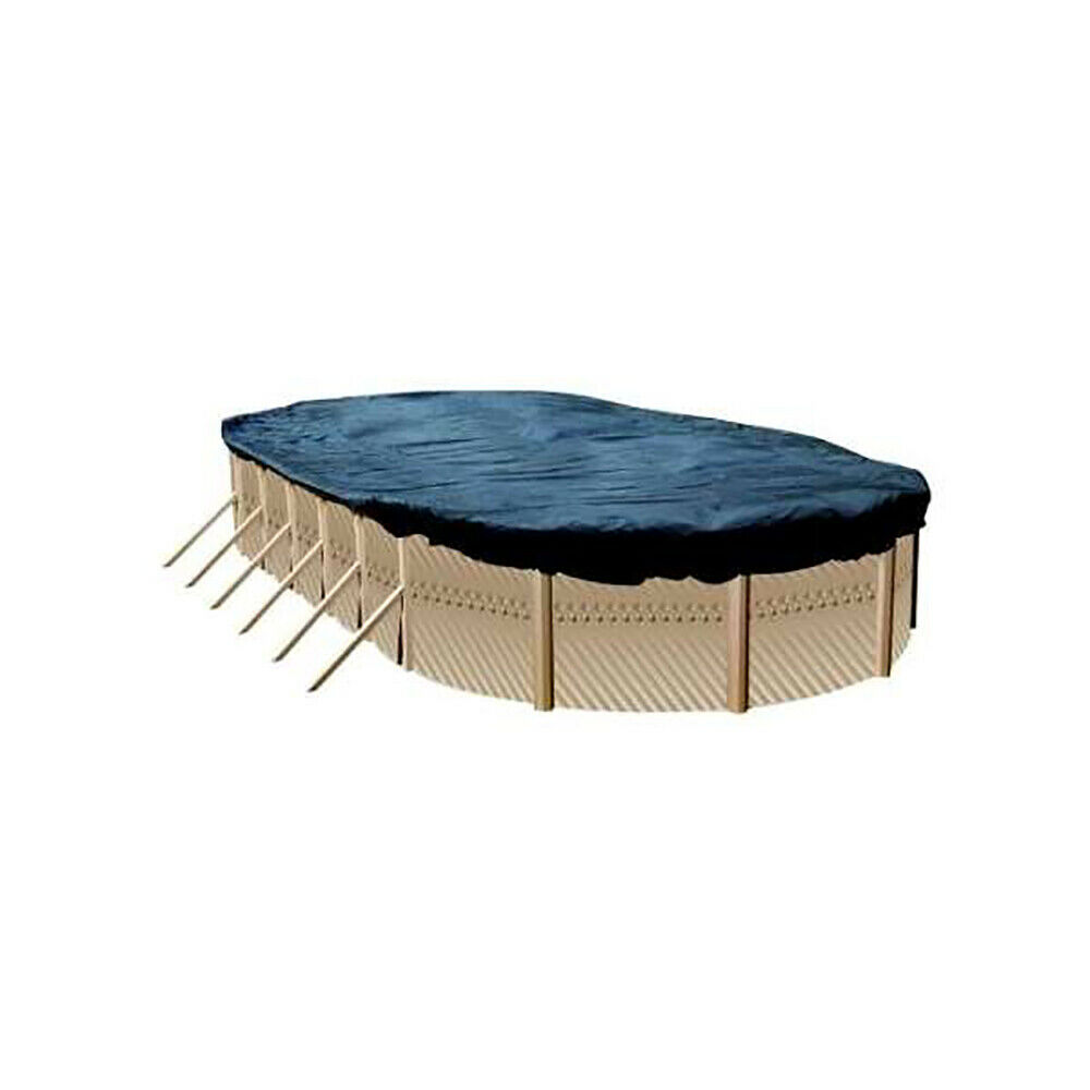 Swimline 15x30 ft oval above ground winter swimming pool for Above ground pool equipment