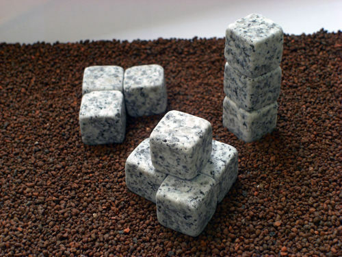 12 nano bricks granit deko steine f r aquarium terrarium ebay. Black Bedroom Furniture Sets. Home Design Ideas