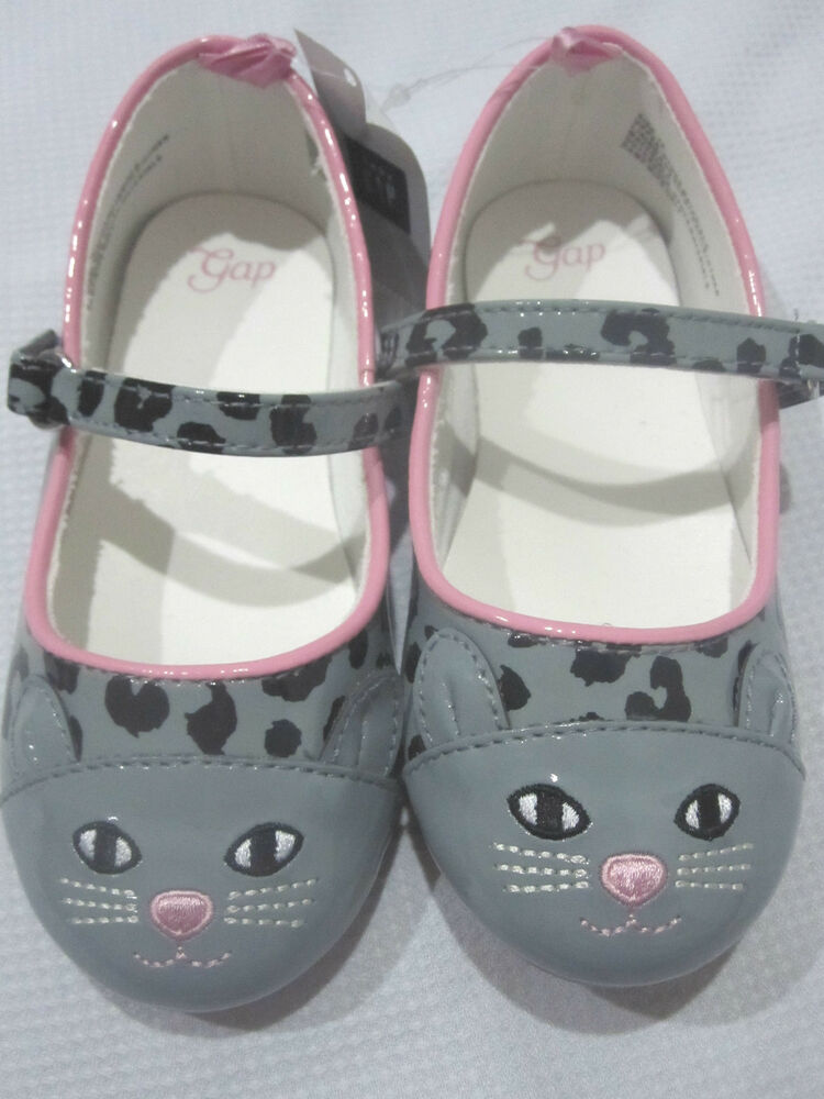 NWT Girls BABY GAP Leopard Cat Patent Ballet Flats Shoes 7