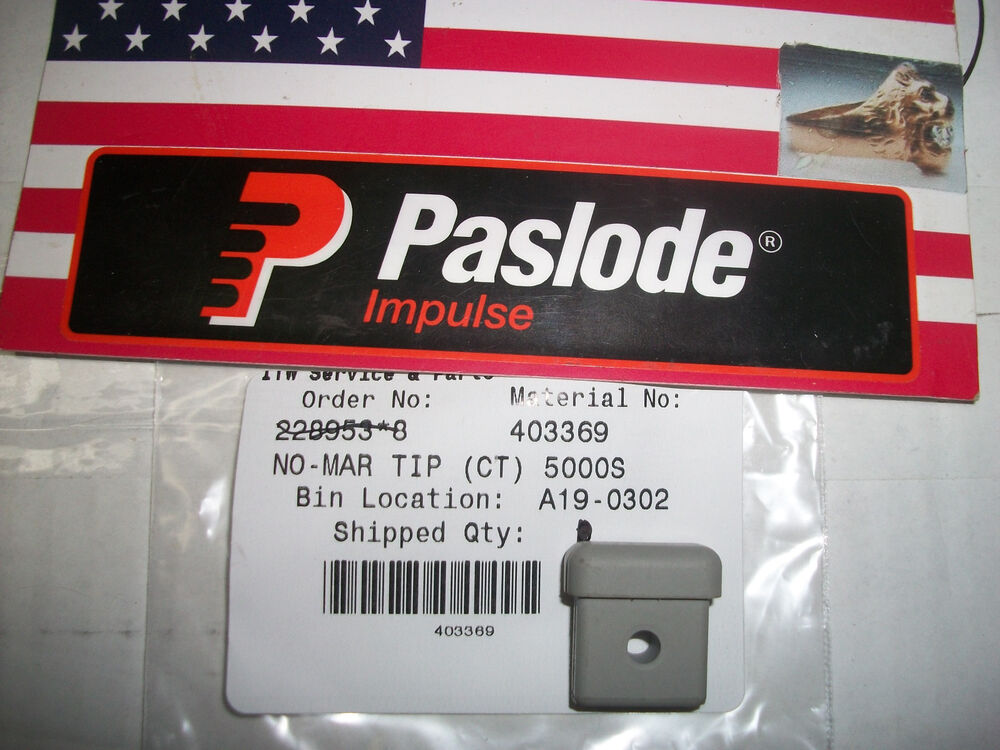 Quot New Quot Paslode Part 403369 Replacement Tip Rubber For