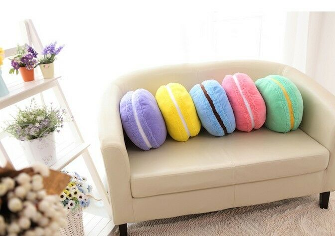 Cute Food Pillows Diy : 15 France Macaroon Macaron Cookie Various Dessert Cushion Pillow Xmas Gift eBay