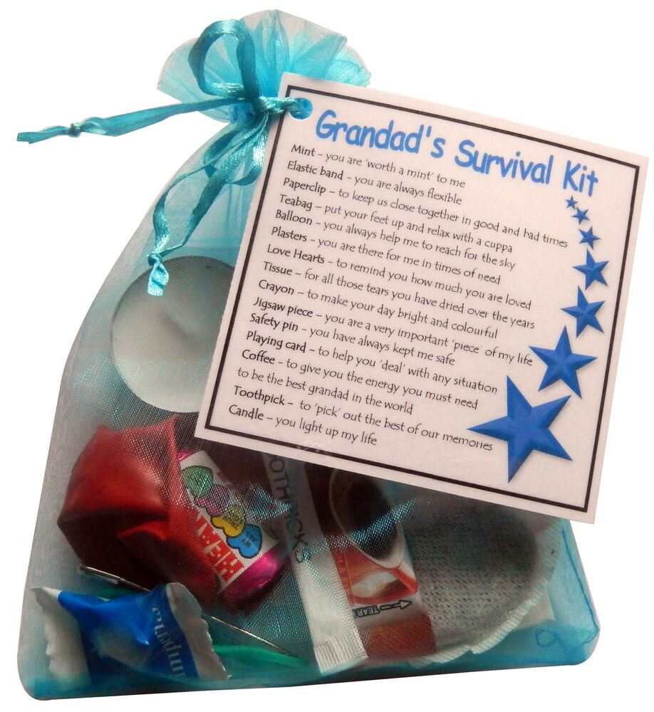 18th Birthday Survival Kit Birthday Gift Novelty Present: Grandad's Survival Kit Gift