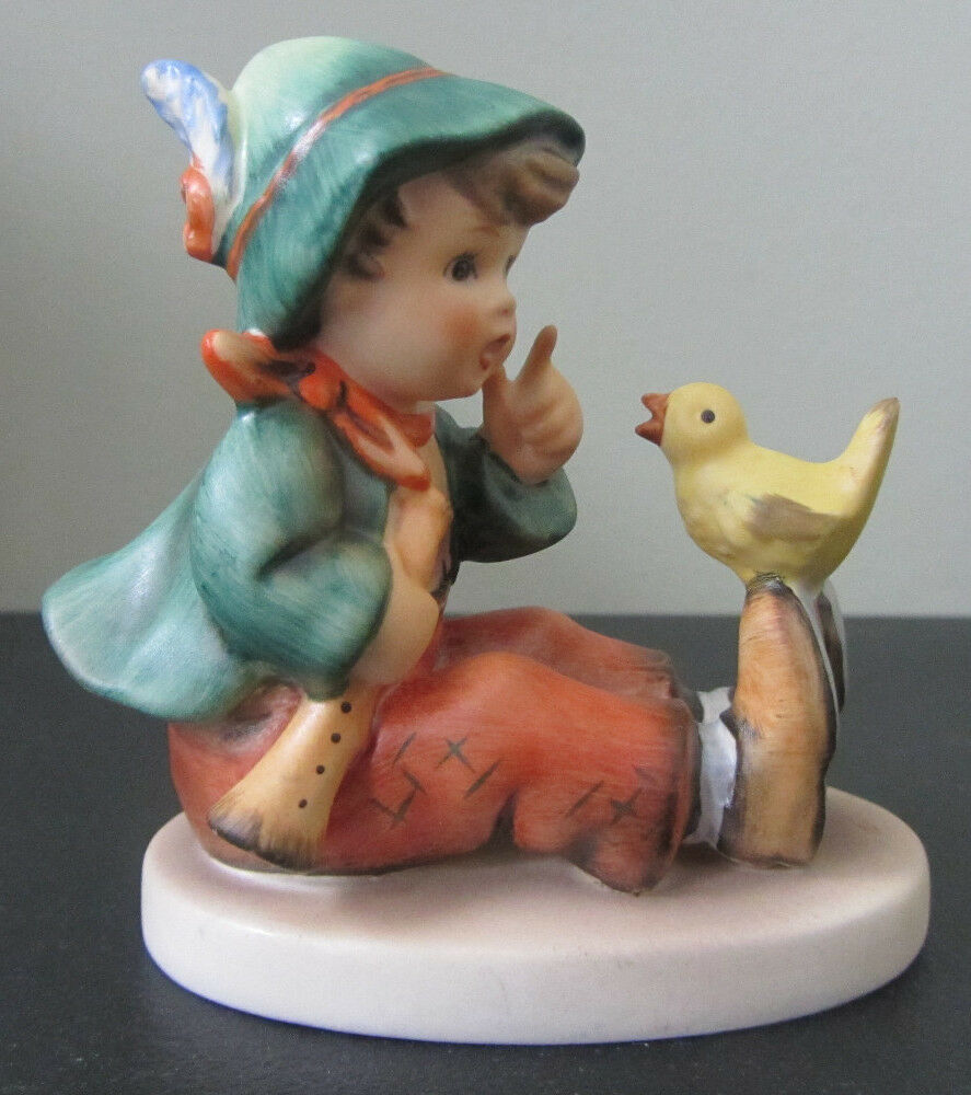 Rare Goebel 63 Hummel Boy With Bird Singing Lesson