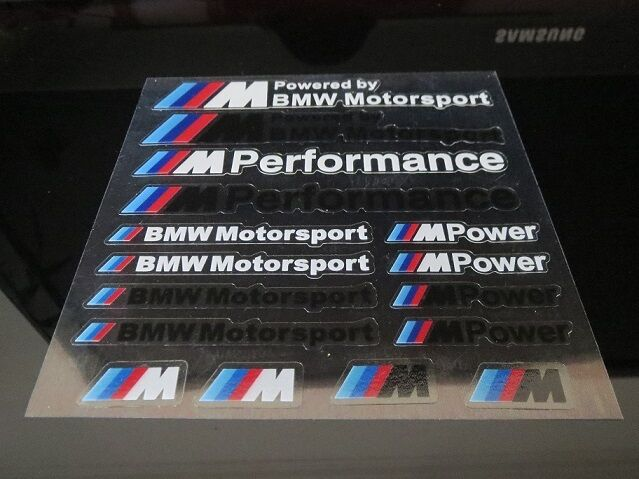 Bmw M Mpower Sticker Badge Decal Wheel Set M3 M4 E21 E30 E36 E46 E90 X3 X1 Z3 Z4 Ebay