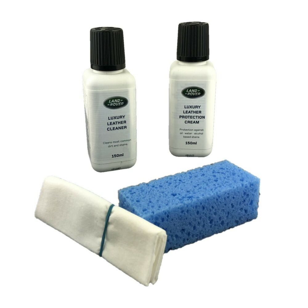 genuine land rover luxury interior leather cleaner and conditioner care kit ebay. Black Bedroom Furniture Sets. Home Design Ideas