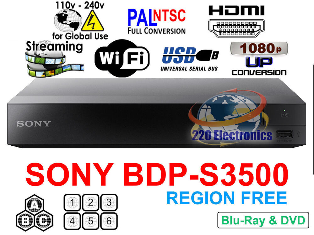 region free blu ray player sony bdp s3500 wifi netflix. Black Bedroom Furniture Sets. Home Design Ideas