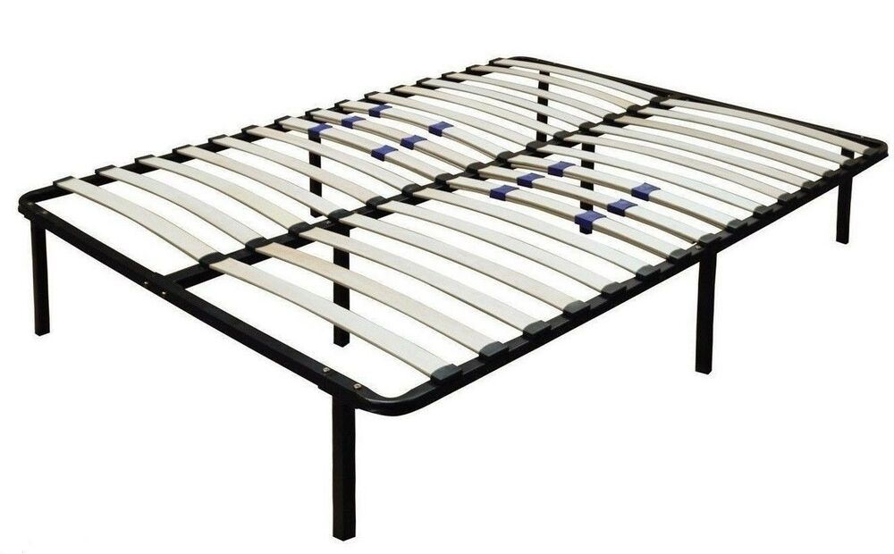 All Sizes Metal Platform Bed Frame With Wood Slats