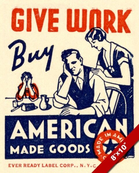 1930 S Era Us Union Label Buy American Goods Propaganda