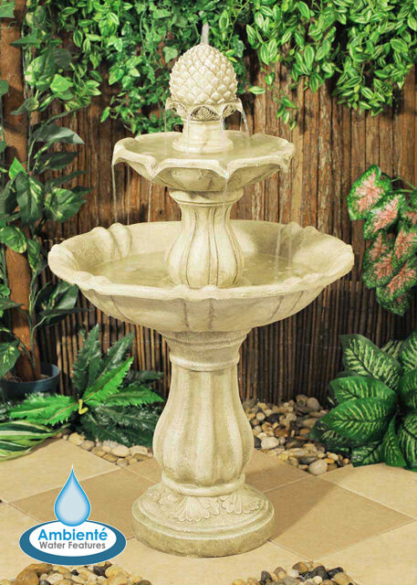 3 level water fountain feature cascade classical white. Black Bedroom Furniture Sets. Home Design Ideas