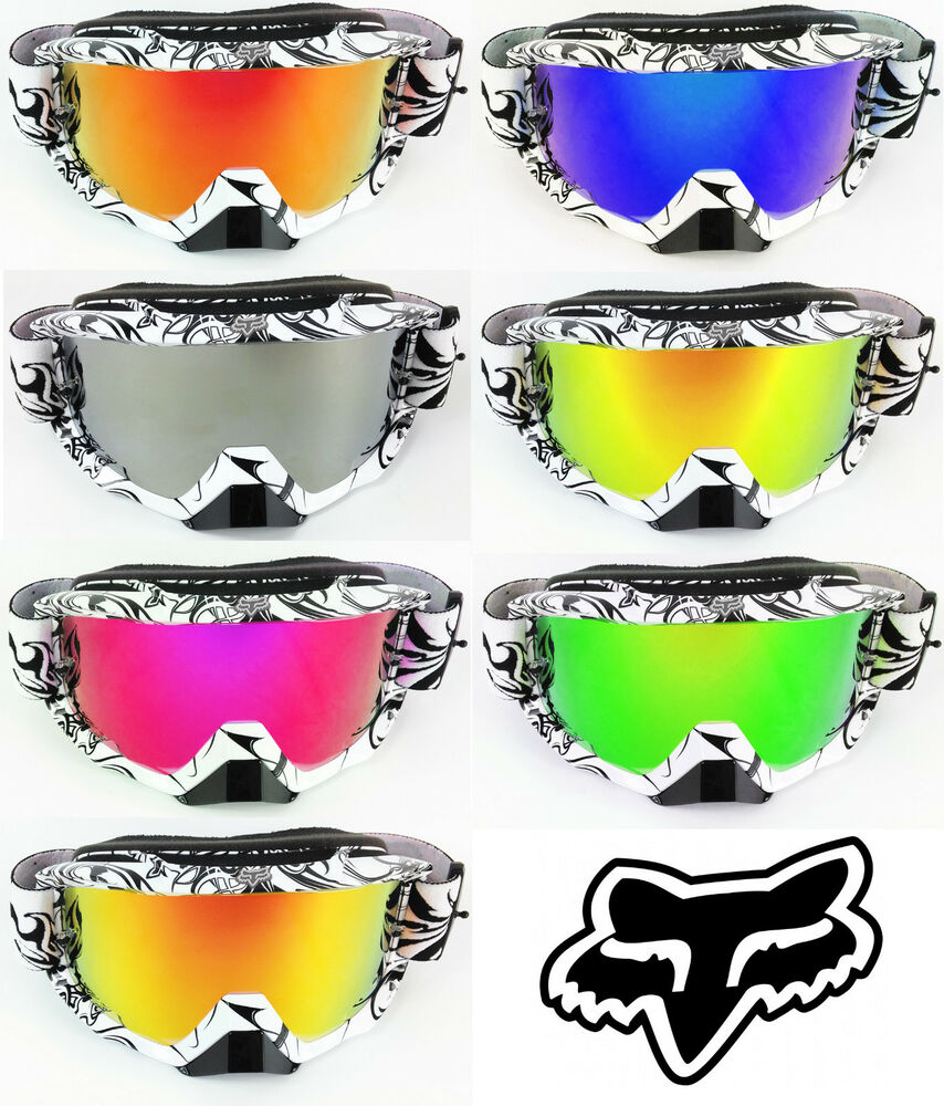 goggle shop fox airspace motocross mx goggle chrome mirror. Black Bedroom Furniture Sets. Home Design Ideas