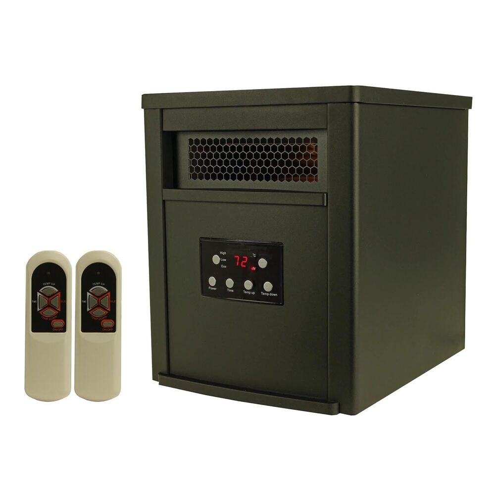Lifesmart 6 element 1500w portable electric infrared room for Electric radiant heat efficiency