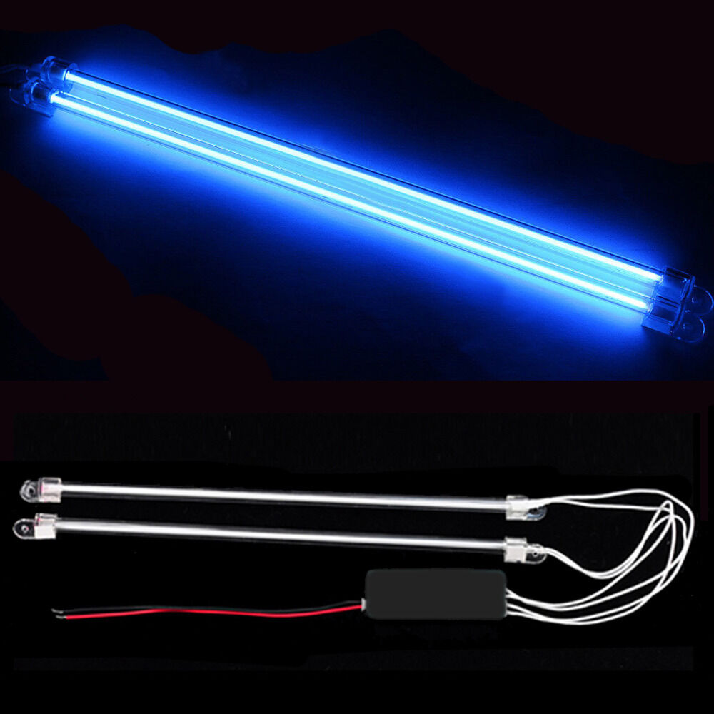 2pcs 12 car blue undercar underbody neon kit lights ccfl cold cathode tube ebay. Black Bedroom Furniture Sets. Home Design Ideas