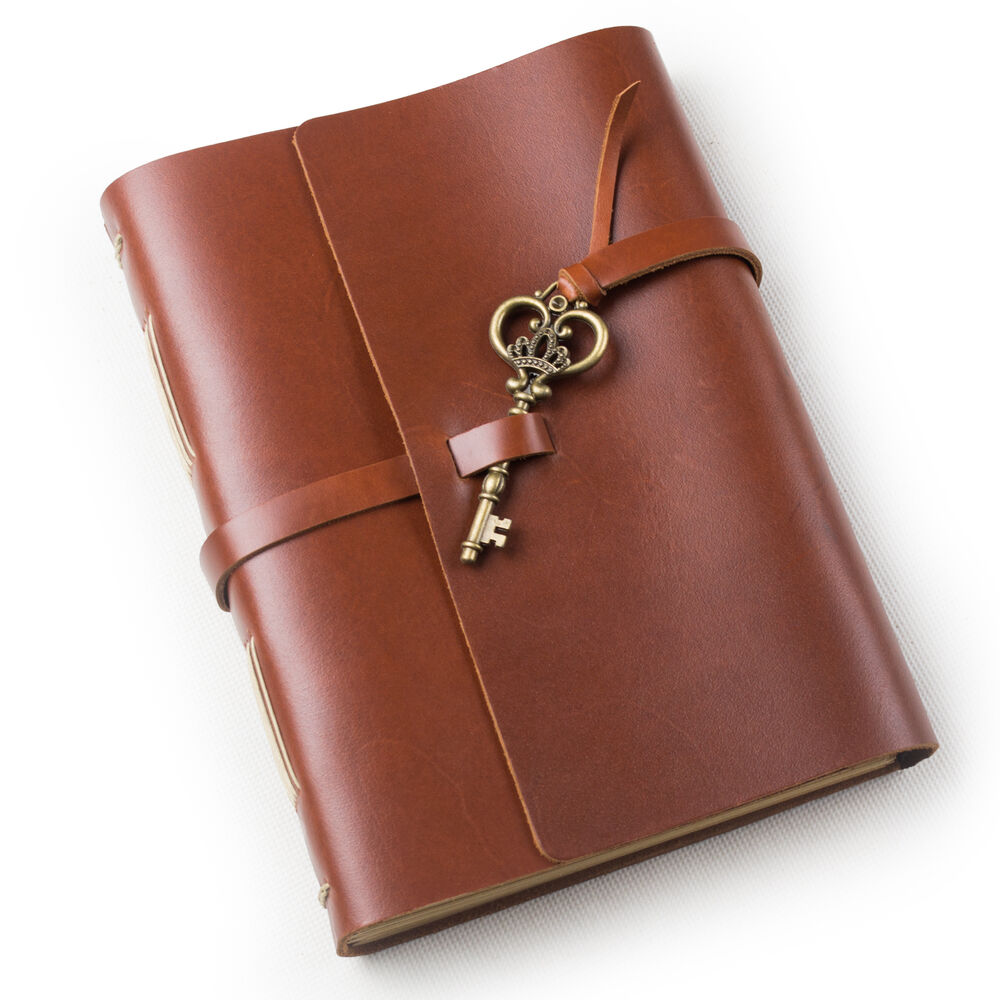 Old Leather Journal With Key Ancicraft Leather Jour...