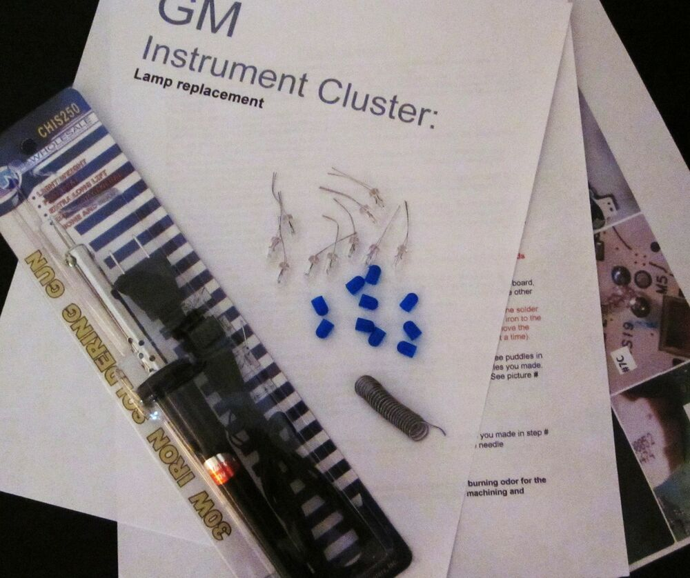 BLUE Instrument Cluster Bulb Replacement KIT . Gauge ...