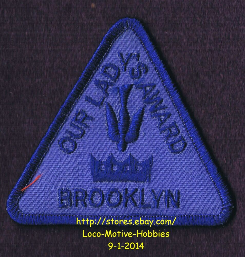 lmh patch badge our lady s award girl scout religious dove