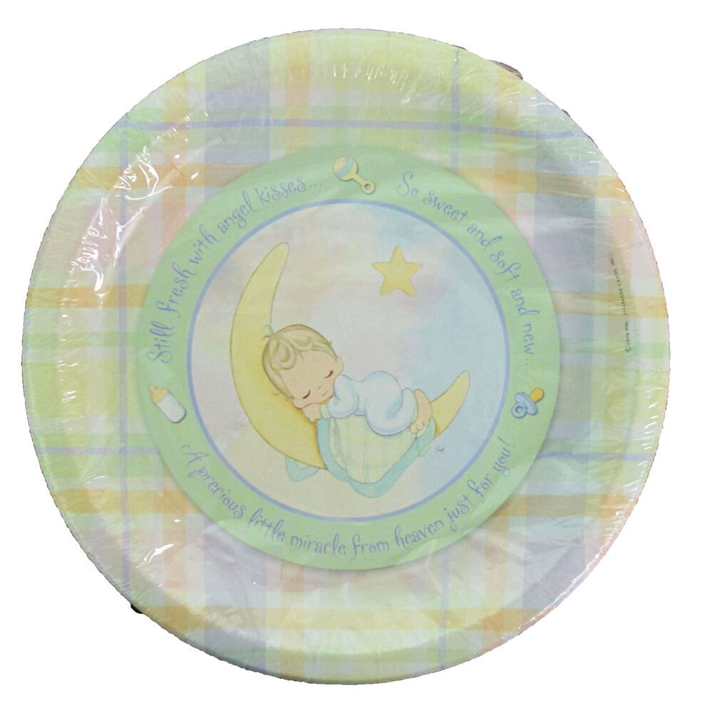 baby shower large plates 8 party supplies tableware angel ebay