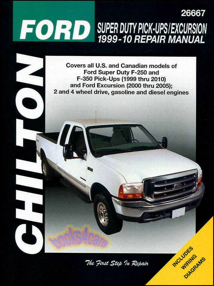 Ford F250 F350 Shop Service Repair Manual Chilton Book