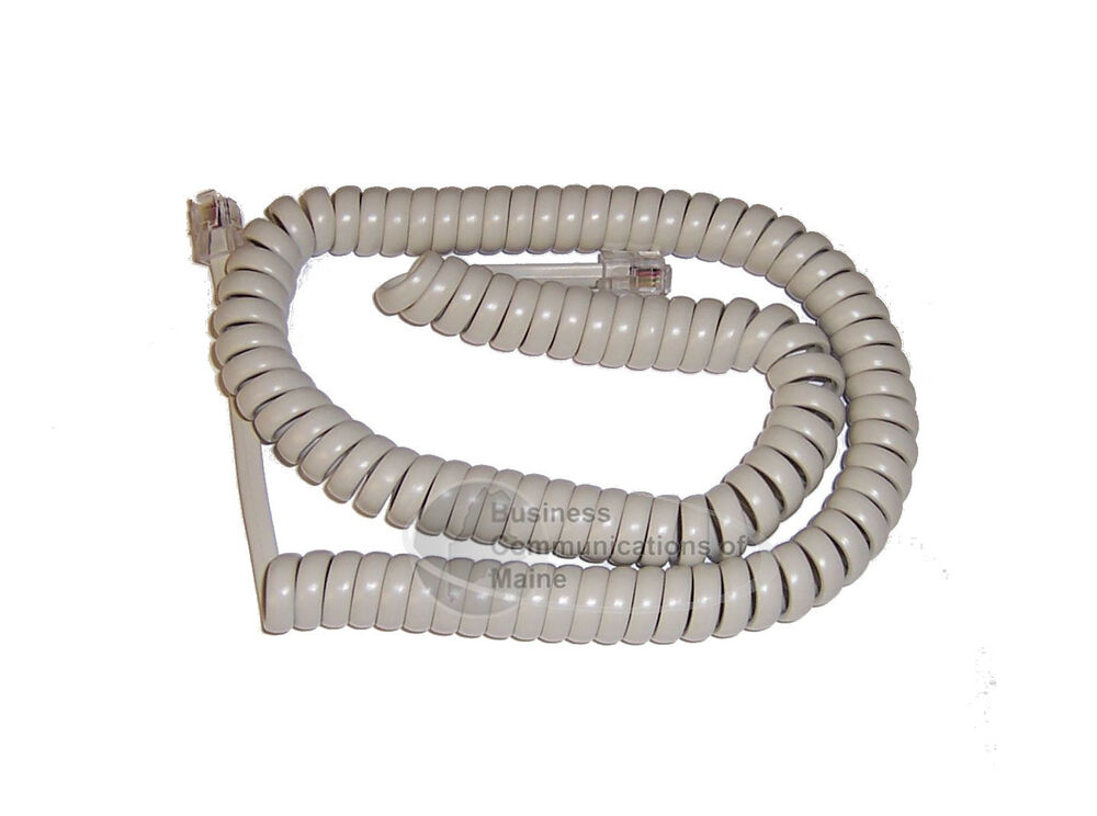 Gray Coil Wire : Phone coil curly cord foot long almond color ebay