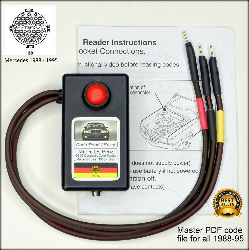 Mercedes obd1 diagnostic code reader reset tool ebay for Mercedes benz computer diagnostic tool
